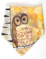 Yellow Birch Owl Scarf