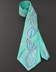 Emerald Seas Necktie sea foam