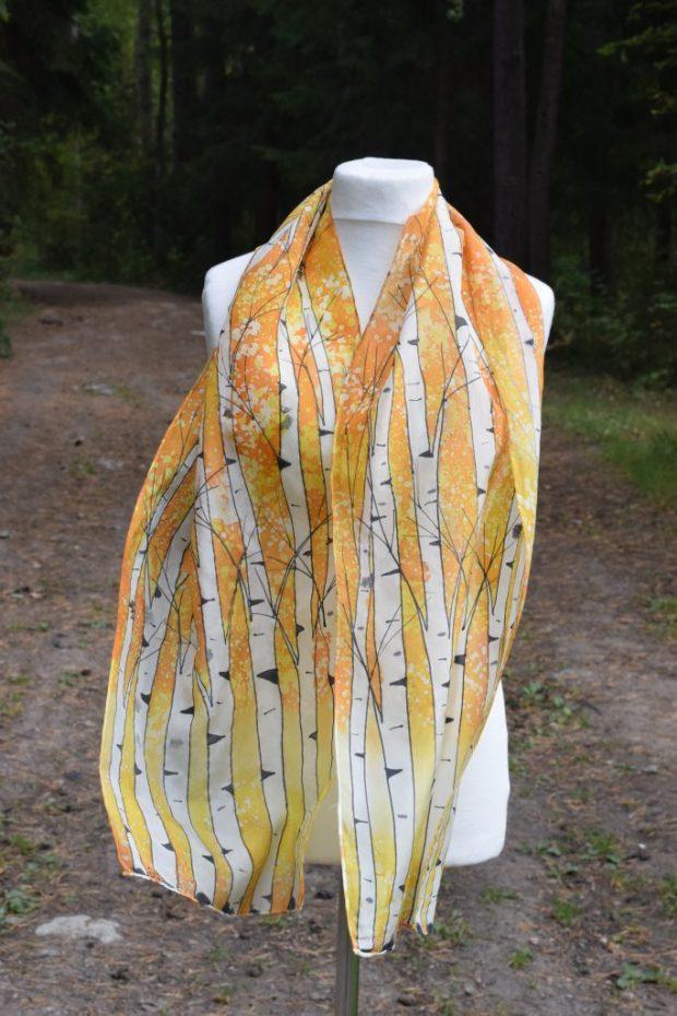 Yellow Birch Tree Scarf