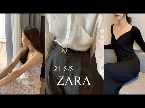 📦 Zara 2021 Spring New Shopping Howl, FASHION HAUL, 9 Zara Shopping Items, ZARA HAUL, Zara Online Mall Shopping, Office Look, Spring Clothes Recommendation, Shopping Mall Recommendation