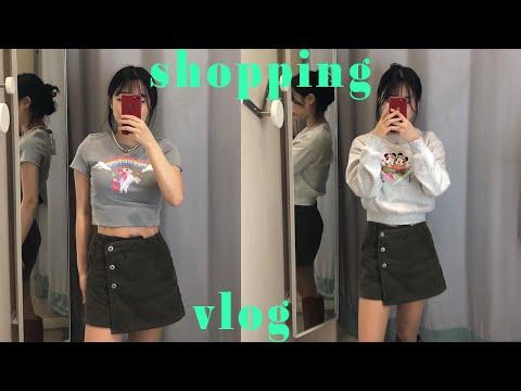 Try on something new at the H&M store🛍/Yongsan I'Park Mall Shopping Vlog/Sukiyaki Mukbang(?)/H&M try on haul |  rosynozy