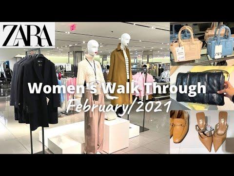 ZARA和我一起购物  新系列2021年2月  店铺浏览  女士时装/手袋/鞋子