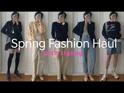 Spring Fashion Haulジグザグできれいな身の上ボムオト打ち明けてきた🌸春のファッションハウル+ルックブック(ラルム、ブラックアップ、ペミロニックなど)