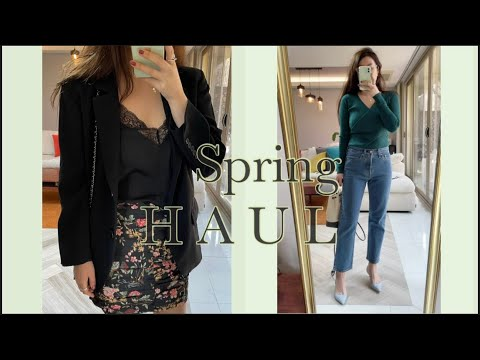 Mango Mango is prettier than Zara Zara 🌸 Spring New 🌿 One piece, cardigan, skirt, blouse fashion howl 🌼