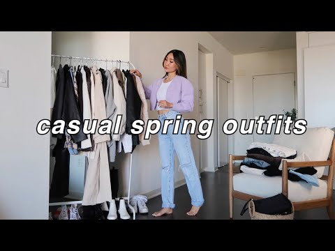 CASUAL SPRING OUTFITS 🦋 | spring fashion lookbook 2021