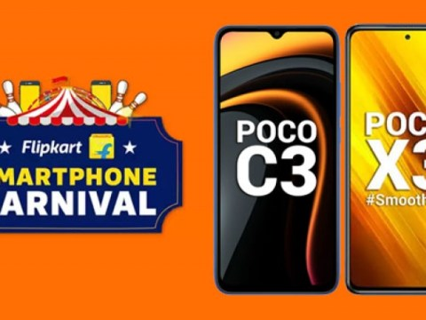 Flipkart Carnival 스마트 폰 판매 2021 : Poco 스마트 폰 할인 제공