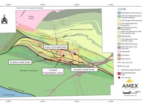 Amex, Perron의 HGZ에서 8.40 미터 이상에서 최대 17.89g / t Au까지 여러 개의 고급 금 드릴 결과보고
