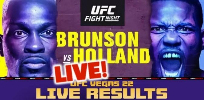 UFC Vegas 22 실시간 결과 : Brunson vs. Holland