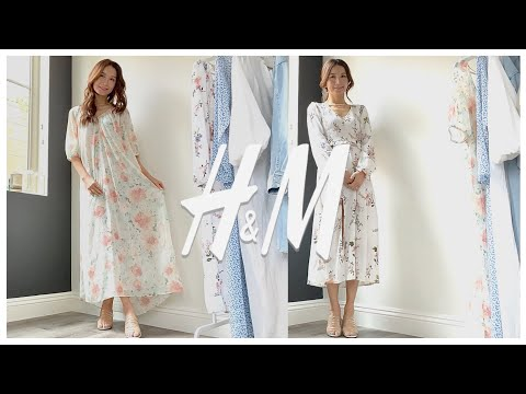 [H&M🌸 Howl] Let's unbox H&M in the US and try on 6 dresses together |  H&M Try on Haul 6 Spring Dresses
