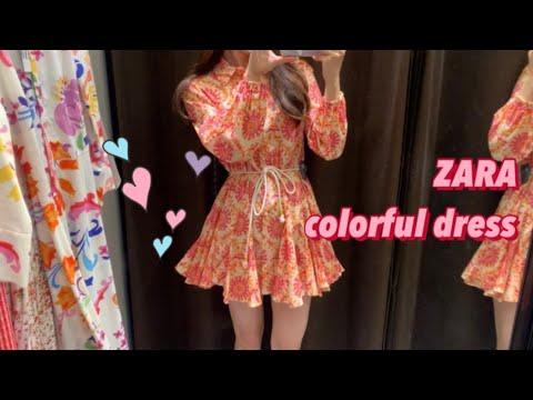 [Fashion vlog] Zara, ZARA, anprobieren neuen Frühling und Sommer, Lookbook, Blumenkleid, Einteiler, Daily Look, Dailylook, Lookbook, ootd