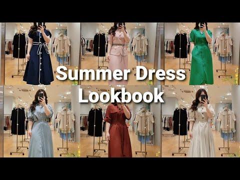 Lookbook 66サイズふっくらコーディネートルックブック| 夏身上ワンピースのようにショッピングです| ワンブランド店荒らし|  Summer Dress Outfit