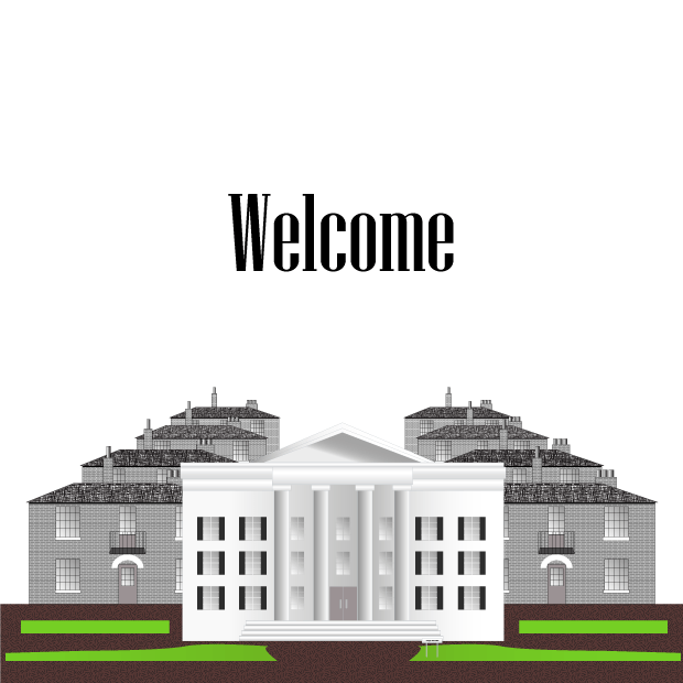 Welcome To Campus Vector Illustration