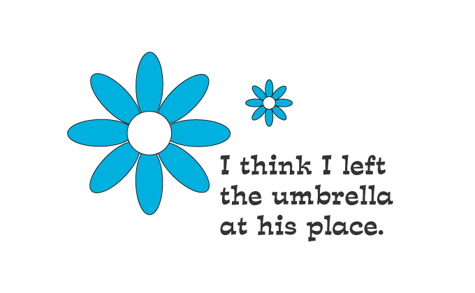 Left The Umbrella At His Place Vector Illustration