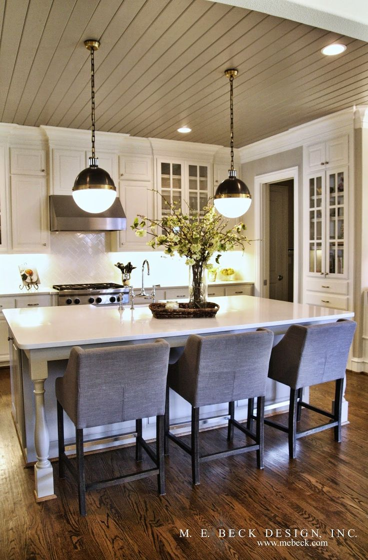 Kitchen layout. I might use different colors, but love the idea of a color on th…