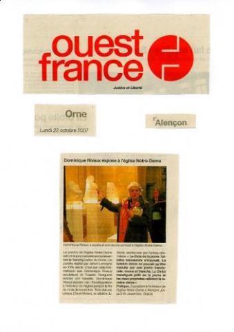 Ouest France - Dominique Rivaux - sculpteur