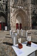 Parvis de la Cathédrale de Troyes - sculptures - Dominique Rivaux