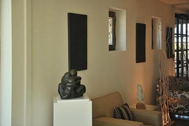 exposition de sculptures à l'hôtel coquillade à gargas