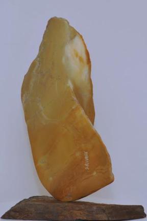 sculpture de flamme d'aile - lumière - naissance