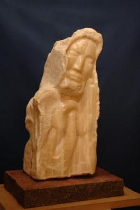 sculpture l'homme du désert - Sage de Dominique Rivaux