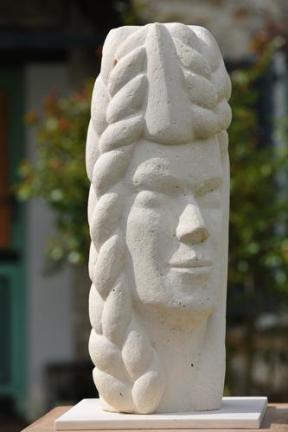 visage mythologique d'une femme - saisons - blé - moisson - prospérité