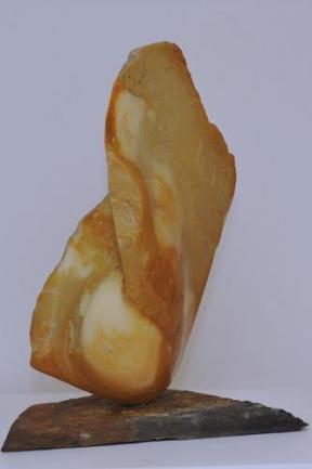 flemme, aile en marbre en jaune de sienne Dominique Rivaux
