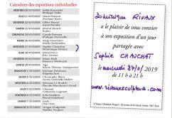Calendrier des expositions individuelles: Rivaux et Chauchat