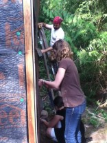 Another great team weatherproofing the shelters