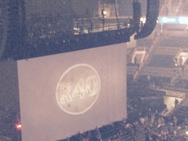 The show is about to start. Rush R40 Tour in San Jose, CA