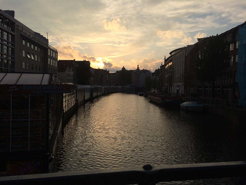 Sunset in Amsterdam my last night there