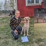 Bianca uppflyttad till Lydnadsklass 1 med förare Stina Helander!