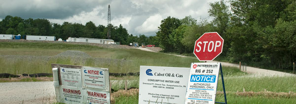 gas drilling, fracking