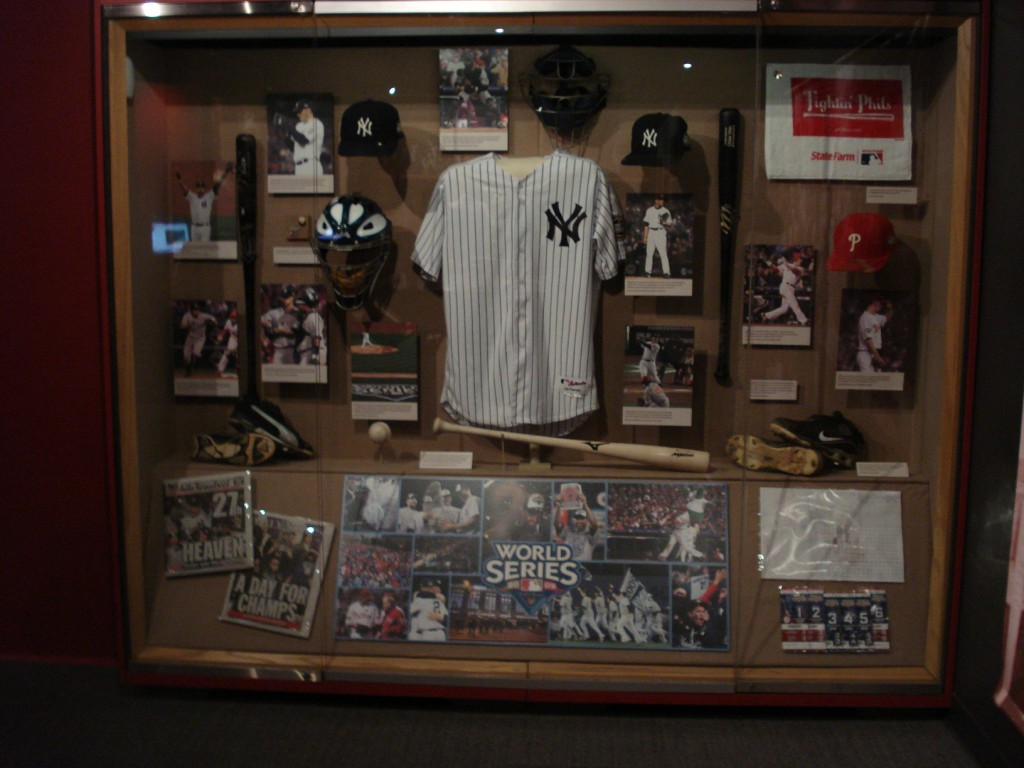HOF 2009 World Series display