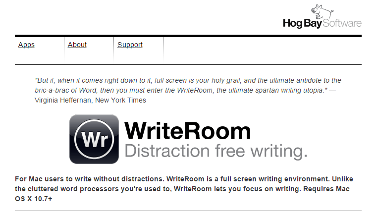 writeroom app for writers
