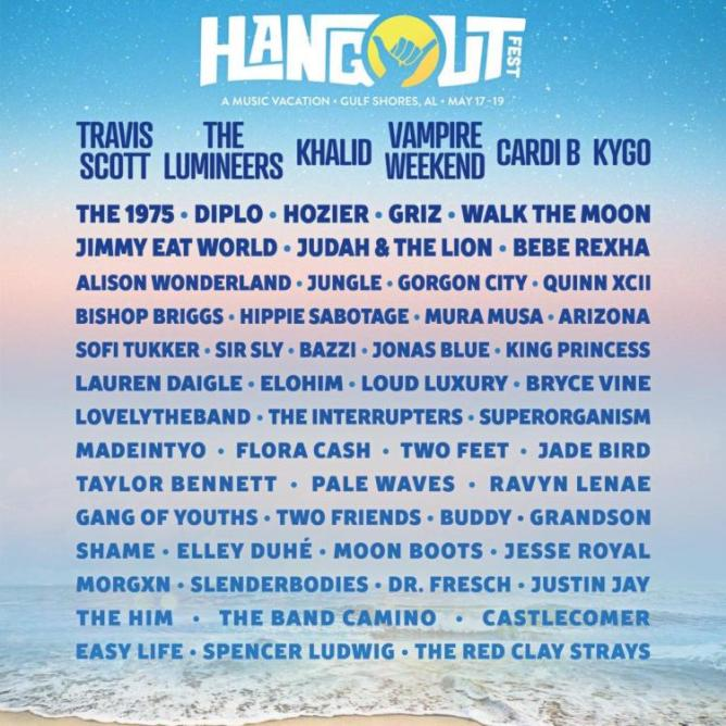a13fbf749436 Hangout Music Festival Announces Stacked 2019 Lineup