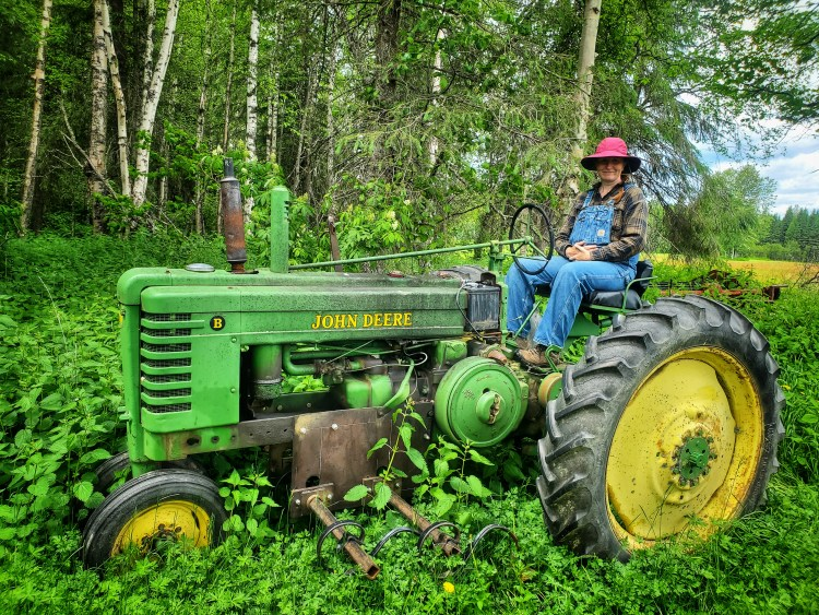 Our main cultivating tractor - 1945 John Deere B