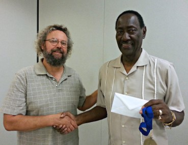 """First Place, Drawing: Don Turner for """"The Legend of Satchmo."""""""