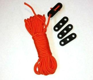 Nylon rope guyline kit