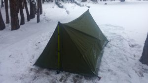 Backpacking Tent in the Rockies