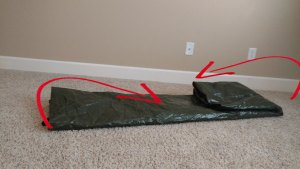 Step 3 folding backpacking tent