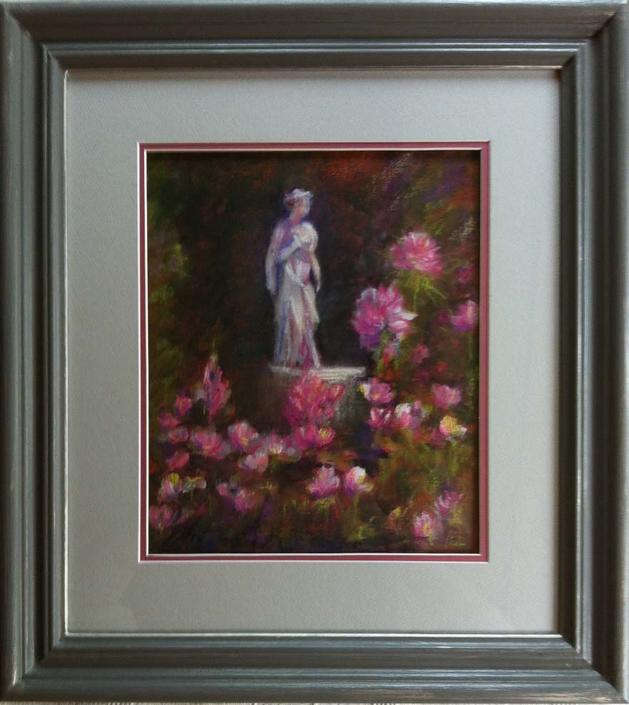 Pastel and Acrylic by Janet Lancaster. Shadow mount, Obeche with acrylic greys and silver wax finish