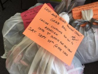 The next Suzee's Third St. Laundry's Lost and Found WORKSHOP is July 10. Grab bags of clothes now available!