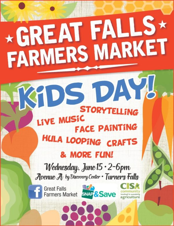 KIDS DAY at the Great Falls Farmers Market, Wednesday, June 15.