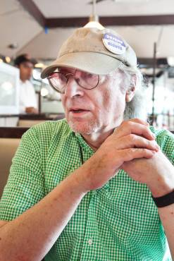John Reynolds, who is running for City Council District 11 on the Green Party line, discussed his platform with 'The Press' at Tibbett Diner on Monday.
