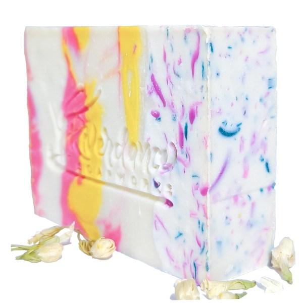 Side shot of Jasmine soap