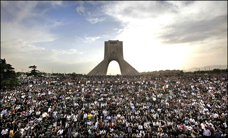 Rally in Tehran, June 16, 2009