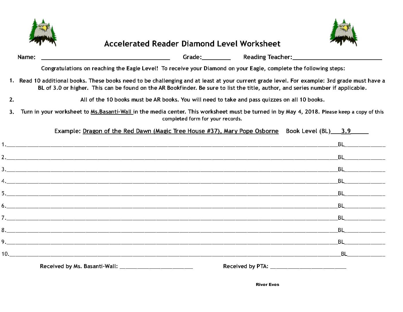New Ar Diamond Worksheet