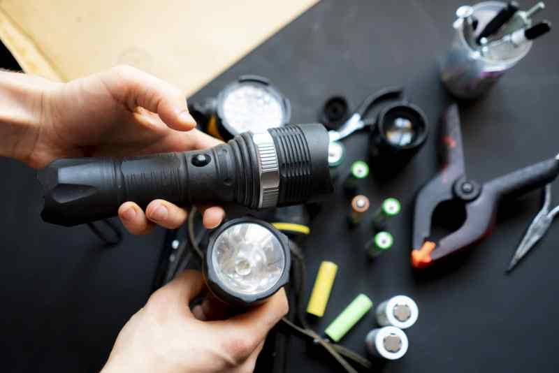 Tactical Flashlight Battery