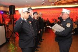Riverhead Fire Dept. Chief Joe Raynor swears in company officers.