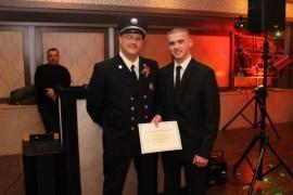 Second Lieutenant Joe Goetz Sr. and his son, new recruit and a top responder (113 calls), Joe Goetz Jr.