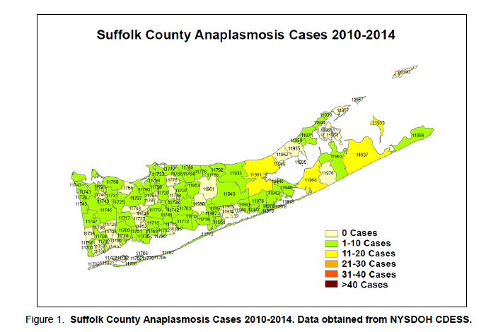 suffolk zip code map Tick Borne Disease Rates Higher On East End Than All Of Suffolk